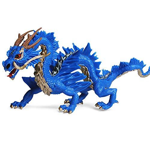 DIYARTS Juguete del Dragón Chino Modelo de Animal de Simulación de Estilo Oriental Tradicional...
