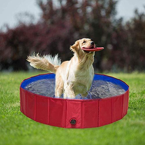 yumeng Hundepool Schwimmbad FüR Hunde Schwimmzubehör fHaustiere(160 * 30cm)