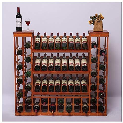 YLCJ vrijstaande wijn- en wijnkoelkast tentoonstelling stand voor bar kelder wijnkelder keuken eetkamer grote capaciteit zonder plank opslag Hoogte 108 cm (kleur: # 1) #3