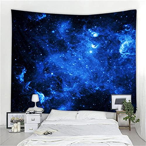 YYRAIN Tapiz De Cielo Estrellado Azul Nórdico Pegatinas De Pared Multifuncionales Decoración del Hogar Pintura Toalla De Playa 150cm x 200cm{Width×Height} A