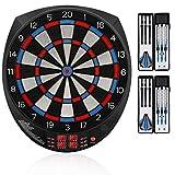 "Best Electronic Dartboards - Biange Electronic Dart Board, 15.5"" Digital Dartboards Set Review"