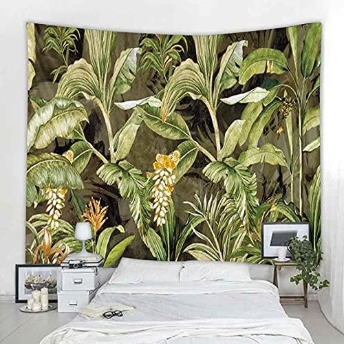 Tapiz de decoración de mandala de bosque tropical nórdico hippie bohemio decoración de pared tapiz manta colgante de pared A3 130x150cm