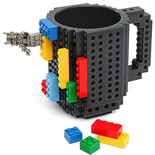 Freeship Deals Creation Blocks Kaffeetasse, Puzzle Spielzeug Tasse (einzigartige lustige Weihnachtsgeschenkidee) Grau