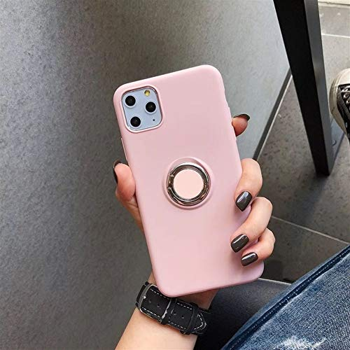 Travel Siliconen Phone Case for iPhone 11 Pro Max X XS XR Condom Shockproof Cover Total beschermhoes met Ondersteuning (Color : Powder, Material : For iPhone 11)