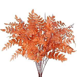 AILANDA 2Pack Artificial Greenery Stem Fake Plants Outdoor Silk Sophora Japonica Leaf Silk Fall Shrubs Bushes Farmhouse Floral Arrangements for Wedding Home Garden Patio Easter Decor