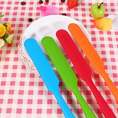 Espátulas para cocinar, mango largo Pastel de silicona Espátula Mantequilla Espátula Mezclador de helado Raspador de silicona para hornear Herramientas de pastelería, Azul cielo