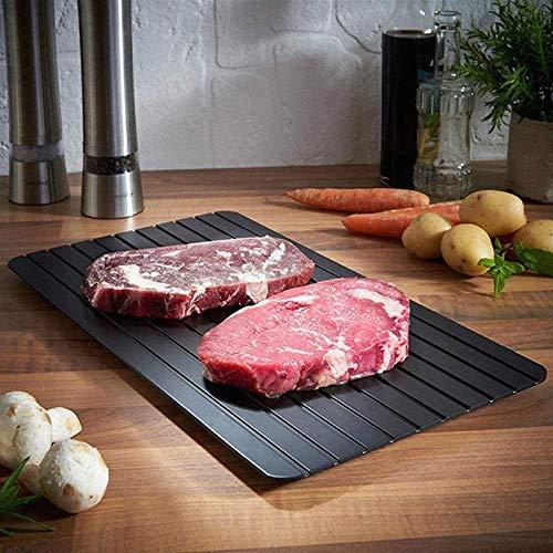2-in-1 schnelles Auftauen von Fleisch und Schneidebrett, schnelle Sicherheit, Auftauplatte für Tiefkühlkost, Fleisch, Küchenwerkzeug S: 23 x 16,5 x 0,2 cm