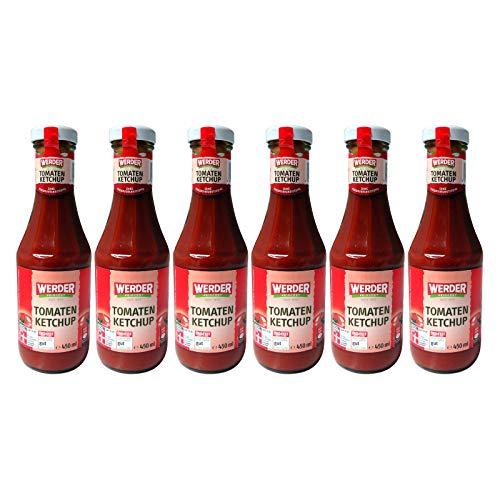 WERDER 6 x Tomaten Ketchup 450 ml