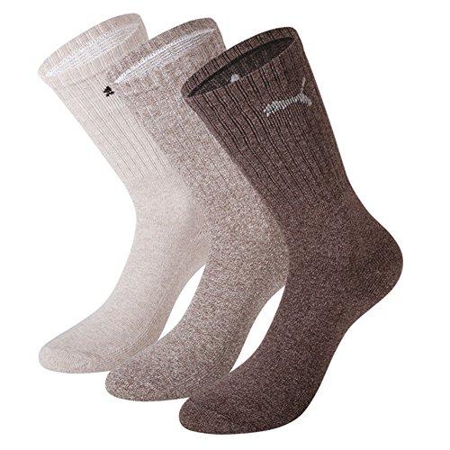 Puma Socken, Freizeitsocken, Tennissocken, Sportsocken, braun, 9 Paar (43-46)