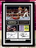 (#130) MUHAMMAD ALI V <span class='highlight'>GEORGE</span> <span class='highlight'>FOREMAN</span> BOXING GREATS SIGNED A4 FRAMED PHOTOGRAPH (REPRINT) GREAT GIFT @@@@@