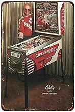 Custom Kraze Bally Pinball Elton John Captain Fantastic Ad Reproduction Metal Sign 8 x 12