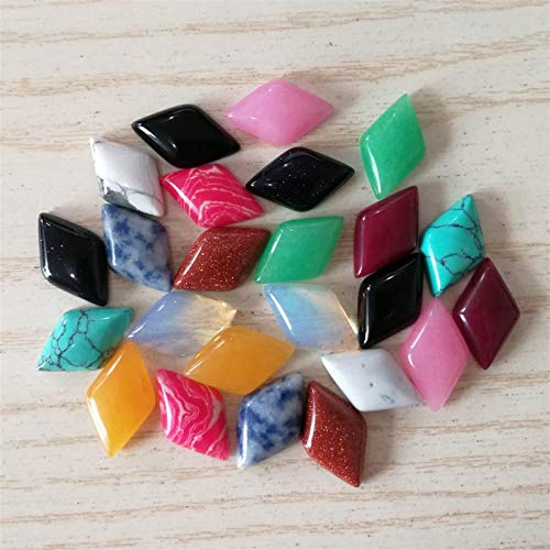 ABCBCA 24 PCS Moda Natural Mixed Piedra Beads Charms Quadrilateral Cuarzo Sin Agujero para la fabricación de Joyas
