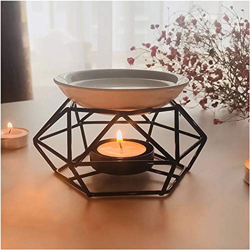 SXCHEN Delicate Romantic Ceramic Tealight Candle Holder Oil Burner, Essential Oil Incense Aroma Diffuser Furnace Home Decoration European Style Bird s Nest Stylish Design