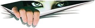 WINOMO 3D Car Stickers Girl's Eyes Peeking Car Decals Truck Bumper Tailgate Decoration