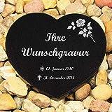 LASERfein Grabplatte Herz inklusive Gravur, 25x23x2cm