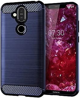 Nokia 8.1 Soft Silicon Case,Blue