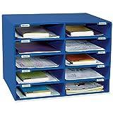 Classroom Keepers Mailbox, 10-Slot, Blue, 16-5/8'H x 21'W x 12-7/8'D
