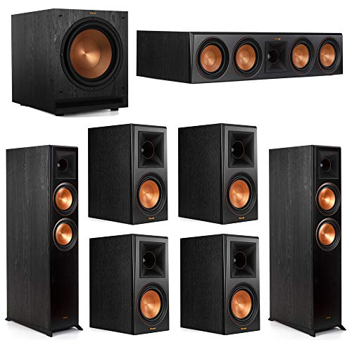Lowest Prices! Klipsch 7.1 System with 2 RP-6000F Floorstanding Speakers, 1 Klipsch RP-504C Center S...