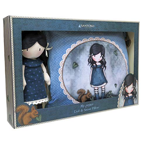 Gorjuss CK-10A-G Set Regalo Muñeca y Cojín Secreto - You Brought Me Lov