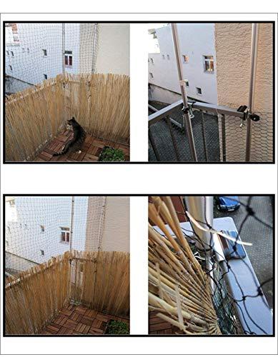 1 X supporto universale in acciaio inox – antiruggine – senza rete – solo supporto – Holly® – Rete per gatti – per aste rotonde fino a Ø 38 mm per balcone – rettangolare rotondo fino a 55 mm Ø