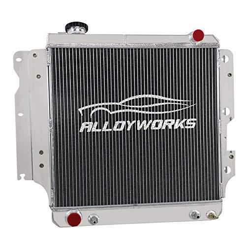ALLOYWORKS 3 Row Core All Aluminum Radiator For 1987-2006 Jeep Wrangler YJ TJ 2.4L 2.5L 4.0L 4.2L L4 L6 Engine Cooler
