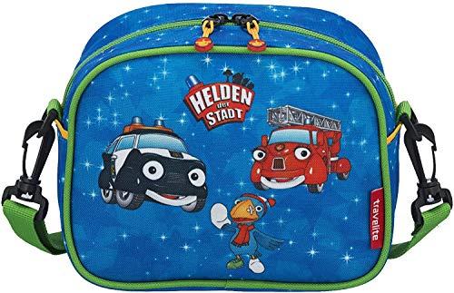 Travelite Robuste, fröhliche Kinderkoffer und Gepäckstücke Helden der Stadt machen jede Reise zum Abenteuer Kindergepäck, 3 Liter, Marine