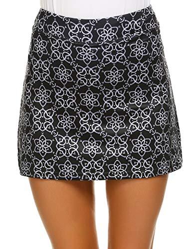 Ekouaer Skort for Women Casual Colorful Cute Boyshort Lightweight Running Golf Tennis Skirts