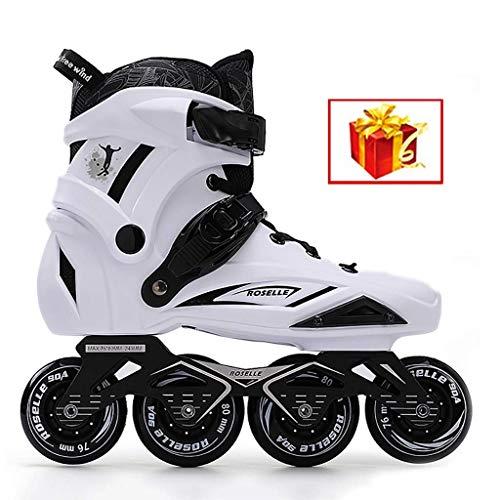 Taoke Inline-Skates, Räder Nicht Flashing, Geeignet for Männer und Frauen, 35-44 Yards (Farbe: Weiß-A, Größe: EU 40 / US 7.5 / UK 6.5 / JP 25cm) dongdong