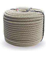 Grevinga® Polypropyleen spinvezeltouw - kunststof touw - touw - henneptouw optiek Ø 28 mm