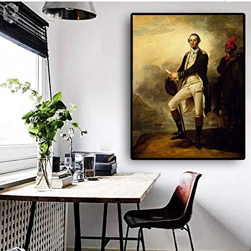 Santangtang Vintage beroemde schilder Washington beroemde portret olieverfschilderij canvas poster en afdrukken woonkamer foto's Scandinavische muur zonder lijst