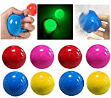 PoSeitiks 8PCS Luminescent Sticky Balls for Ceiling, Luminous Sticky Balls Tear-Resistant Non-Toxic Stress Relief Toys for Adults, Kids,and Teens Anxiety, Stick to The Wall and Slowly Fall Off