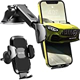 Cell Phone Holder for Car[Ultra-Stable] Universal Hands-Free Car Phone Holder Mount for Dashboard Windshield Air Vent Car Mount for iPhone Samsung All Phones & Cars