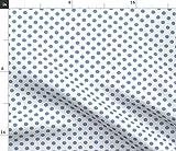 Spoonflower Stoff – Polka Dots blau gepunktet gedruckt auf