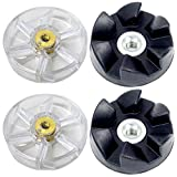 2 Pack Motor Gear and Rubber Gear Replacement Parts Compatible with NutriBullet 600W 900W Blenders NB-101B NB-101S