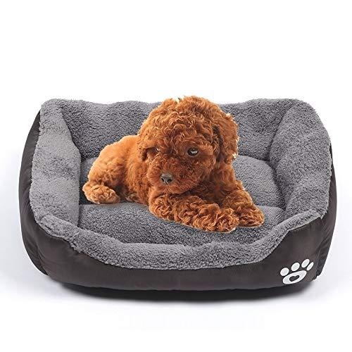 Qiuge Pet Supplies, saisonale Süßigkeiten Farbe Genuine warmen Haustier Kennel Mats Teddy Hund □□ Kissen, Größe: L, 66 × 50 × 14 cm (Color : Magenta)