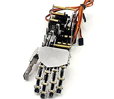 SainSmart 5DOF Humanoid Five Fingers Metal Manipulator Arm Left Hand with Servos for Robot DIY