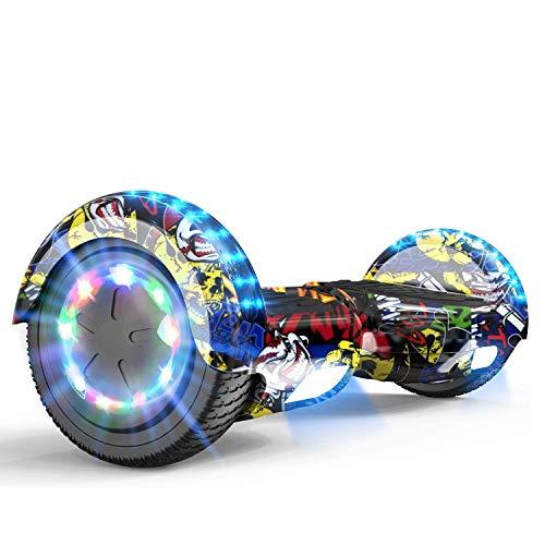 MARKBOARD Hoverboard da 6,5 Pollici per Bambini e Adulti, Smart Scooter Auto Bilanciamento Bluetooth Elettrico e LED Multicolor E-Skateboard Auto Balance (Hip-Hop)