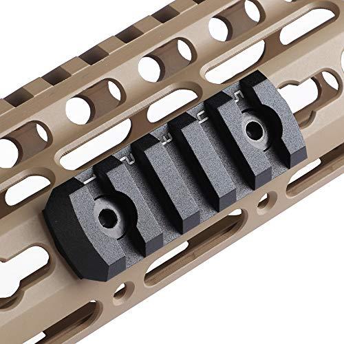TuFok Keymod Picatinny Rail Section - Super Thin Keymod Rail Attachment Rail Adapter Mount,Height ONLY 0.27 inch/6.88mm(Alumimun 5-Slot Black)