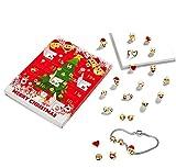 Emoji Calendrier de l'Avent Bijoux pour cadeau de Noël 15 C