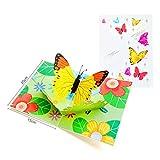 You Jia メッセージカード 誕生日カード グリーティングカード 年賀状 感謝状 感謝カード バレンタインカード フェスティバルカード バースデーカード ちょうちょうの柄