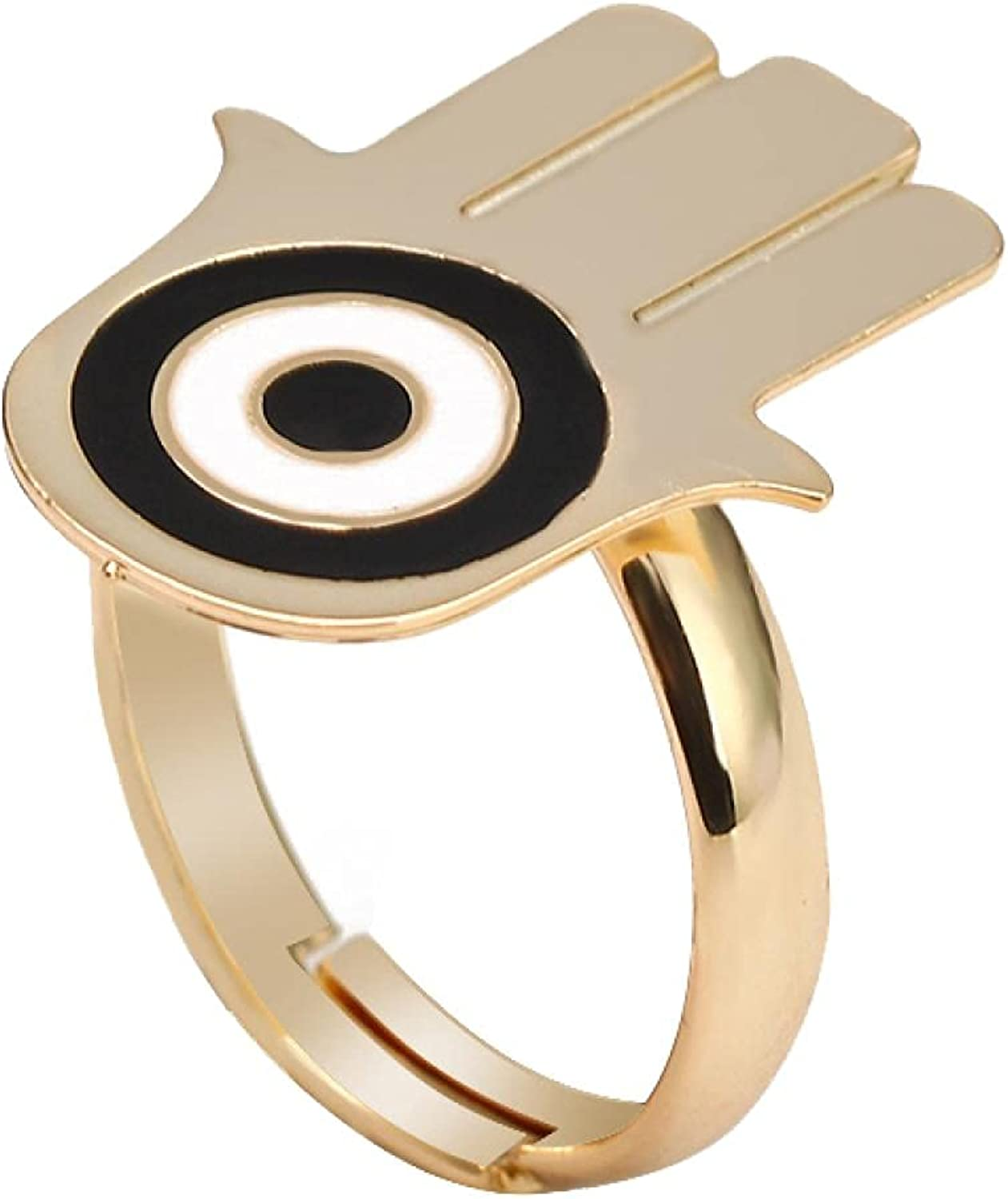 Safety and trust Turkish Evil Eye Ring Gold Adjustable Copper Baltimore Mall Color Finger