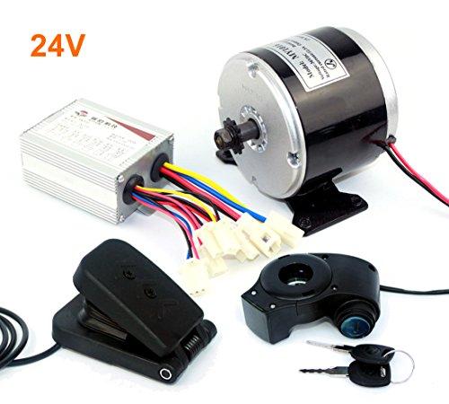 24 V 36 V 350 W DC Eléctrico Motor de Monopatín Eléctrico DIY 350 W Motor Kit Motor eléctrico de la bici de Alta Calidad MOTOR Uso 25 H Cadenas (24V350W pedal kit)