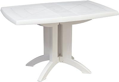 Grosfillex 52149004 Mesa Vega Abatible 118 x 77, Blanco, 118 x 77 x 72