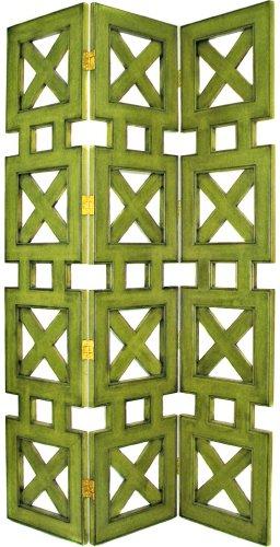 Wayborn Hunter Room Divider in Green