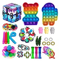 Fidget Pack、感覚家知り玩具、ポップバブルはストレス不安フィデットパック安い大理石のメッシュポップ不安チューブのための子供大人 (Color : Fidget Pack-7)