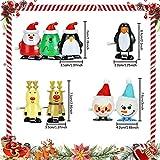 TANCUDER 8 Stücke Kinder Aufziehspielzeug Weihnachten Uhrwerk Spielzeug ABS Weihnachten Aufziehspielzeug Wind Up Figur Aufziehfigur Weihnachten Deko Figuren für Kinder - 2