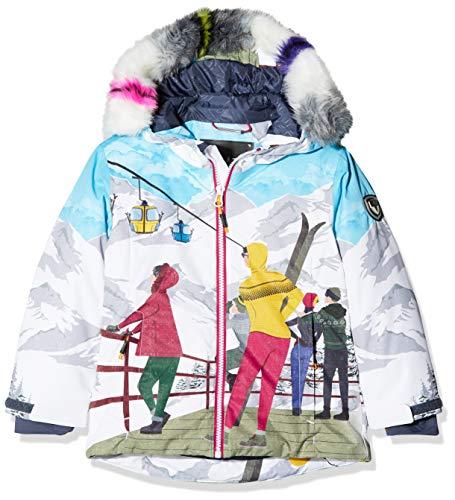 CMP Mädchen Wattierte 5000 Twill Eco Fur Skijacke, B.Co/Granita/Ice, 176