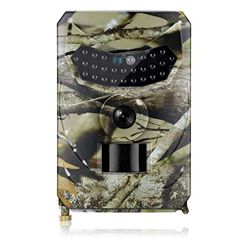 Mounchain Trail Camera, Waterproof 12MP 1080P Game Hunting Scouting Cam with 3 Infrared Sensors for Wildlife Monitoring with Wide Angle Lens and Night Vision PR100