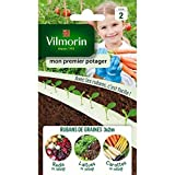 Vilmorin - Mon premier potager- rubans biodégradables - espacement adapté entre chaque graine - Pack composé de 3 rubans de graines : Carotte - Radis - Laitue