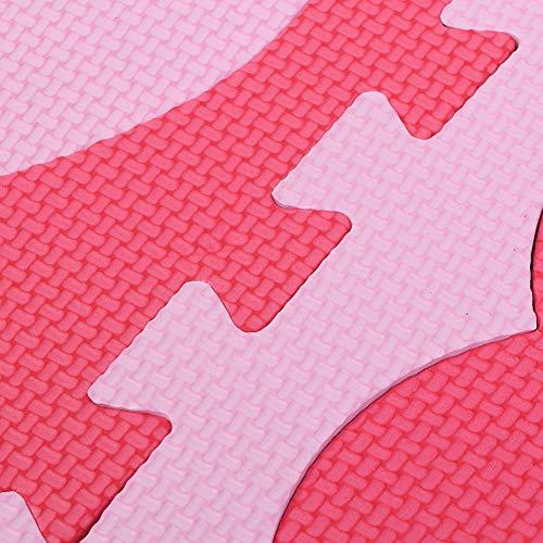 Alfombrilla de rompecabezas con patrón de corazón, fácil y duradera alfombrilla de juego con patrón de corazón, sin olor ni contaminación Kingdom Garden Dormitorio para niños